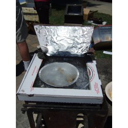 Solar Pizza Box Cooker