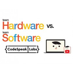 Team Hardware vs. Team Software. Image Credit: from original activity