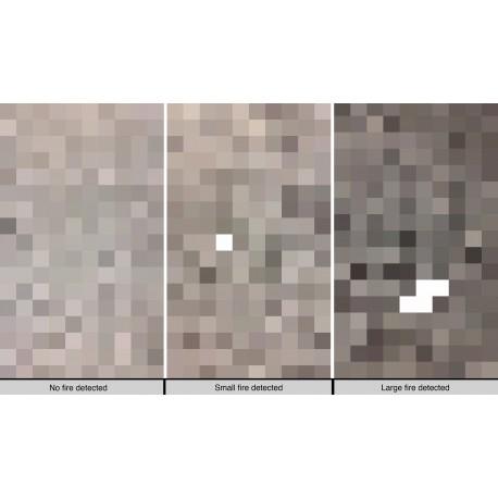 Pixels on Fire. Image credit: NASA