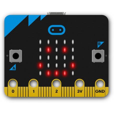 Micro:bit Emotion Badge. Image Credit: BBC micro:bit
