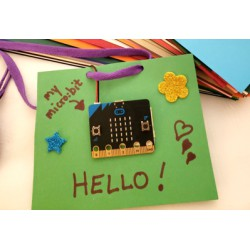 Micro:bit Name Badge. Image Credit: BBC micro:bit
