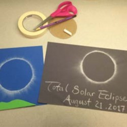 Eclipse Chalk Art