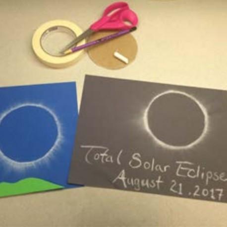 Eclipse Chalk Art